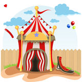 Circus tent illustration Royalty Free Stock Photography