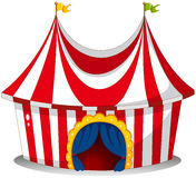 A circus tent. Illustration of a circus tent on a white background stock illustration