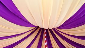 Circus tent inside. Arrangement of interior scene stock video footage