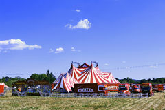 Circus tent installed ready for representation Royalty Free Stock Photo