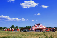 Circus tent installed ready for representation Royalty Free Stock Photos