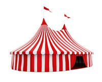 Circus Tent Isolated. On white background. 3D render vector illustration