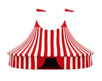 Circus Tent Isolated. On white background. 3D render Royalty Free Stock Photos