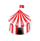 Circus tent isolated on white background Royalty Free Stock Photography