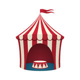 Circus tent, isolated on white background. Circus tent isolated on white background. Vector illustration Stock Photo