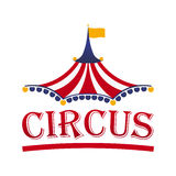 Circus tent logo template. Vector illustration. Royalty Free Stock Photo