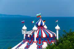 Circus tent near the sea Royalty Free Stock Photo