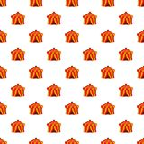 Circus tent pattern, cartoon style Royalty Free Stock Images