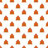 Circus tent pattern, cartoon style Stock Images