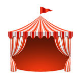Circus tent. Poster background illustration Stock Photos