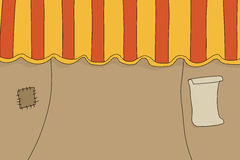 Circus Tent with Poster Royalty Free Stock Photos