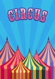 Circus tent poster Stock Images