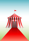 Circus tent and red carpet royalty free illustration