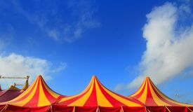 Circus tent red orange and yellow stripped pattern Stock Images