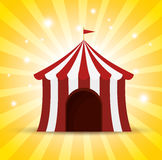 Circus tent red and white shine background Stock Images