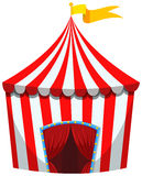 Circus tent in red and white striped Royalty Free Stock Photography