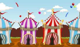 Circus tent seamless background. Vector illustration of colorful circus tent seamless festive background Royalty Free Stock Image