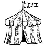 Circus tent sketch Royalty Free Stock Photos