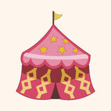 Circus tent theme elements vector,eps. Vector illustration file Stock Images
