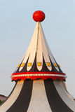 Circus tent top. Circus tent marquee with red ball at the top Royalty Free Stock Photo