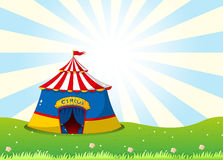 A circus tent at the top of the hill Stock Images