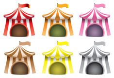 Circus Tent Vector Icon Set vector illustration