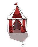 Circus Tent, Vector illustration. Royalty Free Stock Image