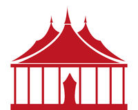 Circus Tent. Vector illustration of a red circus tent on a white background Stock Images
