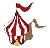 Circus Tent Vector Illustration. Royalty Free Stock Photo
