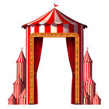 Circus Tent Vertical. Circus tent concept in a vertical carnival composition as an entertainment ans amusement symbol for a festive special event celebration Royalty Free Stock Photography