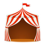Circus tent on white Vector background  Royalty Free Stock Photography