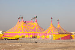 Circus tents in Abu Dhabi Royalty Free Stock Image