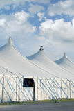 Circus Tents on a Fairground. With Cumulus Clouds Royalty Free Stock Image