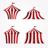 Circus tents. Four variations of circus tent vector illustration
