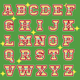 Circus theme alphabet icons Stock Photo