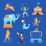 Circus theme icons set ,Vector illustration Stock Image