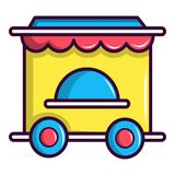 Circus ticket booth icon, cartoon style royalty free illustration