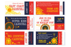Circus Ticket Carnival Birthday Invitation Royalty Free Stock Images