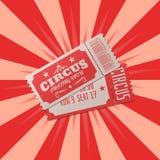 Circus ticket vector illustration