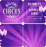 Circus ticket vector stock illustration