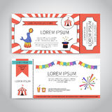 Circus tickets design Royalty Free Stock Image