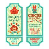 Circus Tickets Set Stock Photos