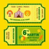 Circus tickets template Stock Images