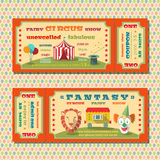 Circus tickets template vector illustration