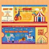 Circus Tickets Templates Royalty Free Stock Photos