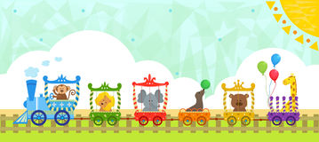 Circus Train With Background Stock Images