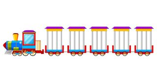 Circus Train isolated on white Background Royalty Free Stock Photography