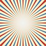 Circus Uitstekende achtergrond in rood blauw wit royalty-vrije illustratie