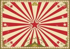 Circus uitstekende horizontale achtergrond Stock Afbeelding