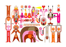 Circus - vector illustration Royalty Free Stock Photo